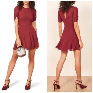 NWT Reformation Gracie Dress in Garnet Size 6